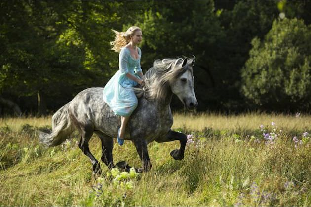 Lily James plays Cinderella in Kenneth Branagh's upcoming take on the classic. Courtesy Walt Disney Pictures.