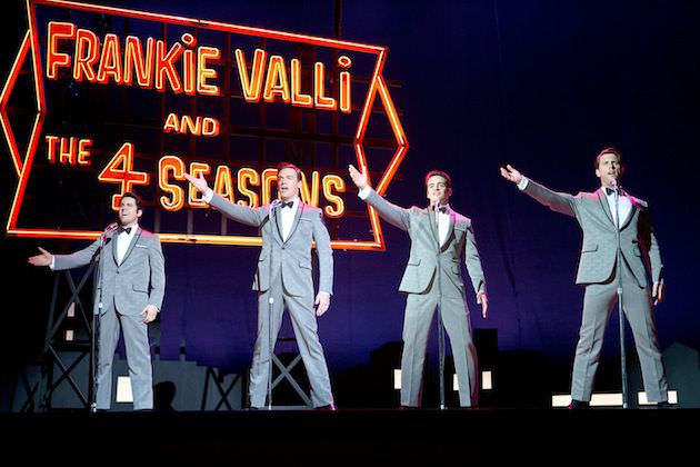 L-R: John Lloyd Young as Frankie Vallie, Erich Bergen as Bob Gaudio, Vincent Piazza as Tommy DeVito and Michael Lomenda as Nick Massi. Courtesy Warner Bros. Pictures.