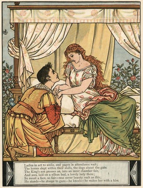 "The Brothers Grimm re-wrote ""Sleeping Beauty.""  Illustration by Walter Crane."