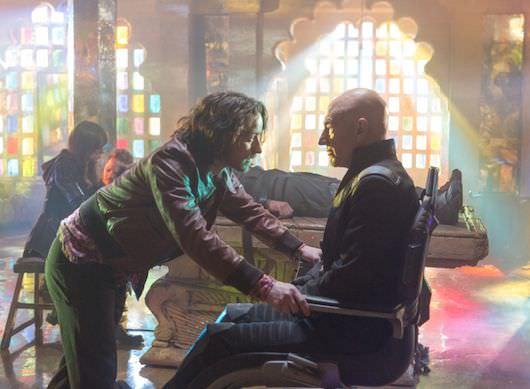 Young Charles Xavier (James McAvoy) meets his older self (Patrick Stewart)