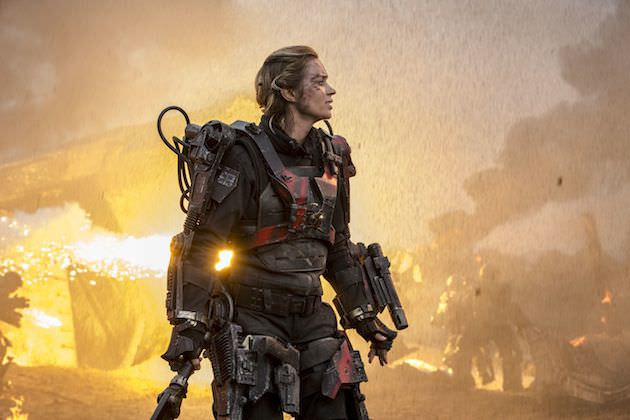 Emily Blunt is Rita, the United Defense Force's greatest soldier. Courtesy Warner Bros. Pictures.