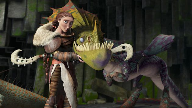 Hiccup's long-lost mother, Valka (Cate Blanchett), has lived among dragons and learned their ways. Courtesy DreamWorks Animation and 20th Century Fox.
