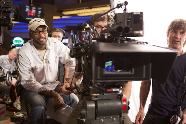 Director Tim Story  on the set of Screen Gems 'Think Like a Man Too.'