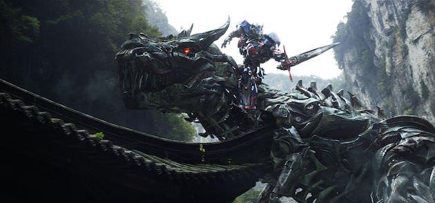 Left to right: Grimlock and Optimus Prime