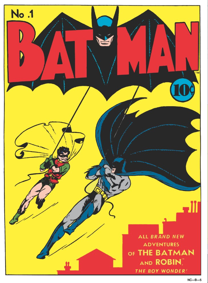 1940, written by Bob Kane, the first appearance of both The Joker and Catwoman. Courtesy DC Comics.