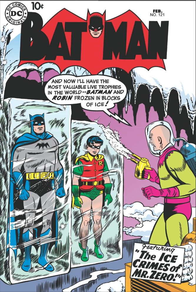 1958. Written by Curt Swan, the first appearance of Mr. Freeze.