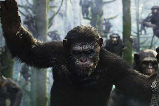 Caesar (Andy Serkis), along with Notary, were part of the 50-performer team who played apes. Courtesy 20th Century Fox.