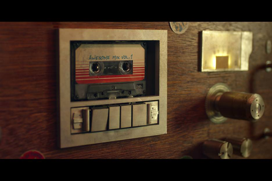 Quill's beloved tape deck. Courtesy Walt Disney Studios/Marvel Entertainment.