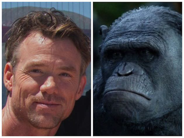 Terry Notary has turned himself into goblins, orcs, aliens and intelligent apes in his long, busy career. Courtesy 20th Century Fox.