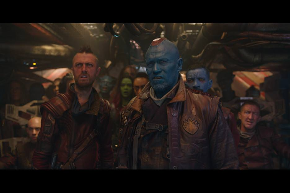 As the alpha male of the Ravagers, Yondu (Michael Rooker) has a Mohawk that emits lights. Courtesy Walt Disney Pictures/Marvel Entertainment.