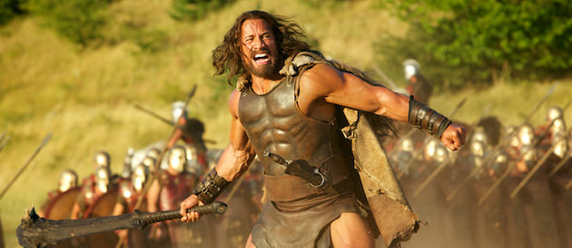 Dwayne Johnson was given a long, flowing mane and grew a beard to play Hercules. Courtesy Paramount Pictures.