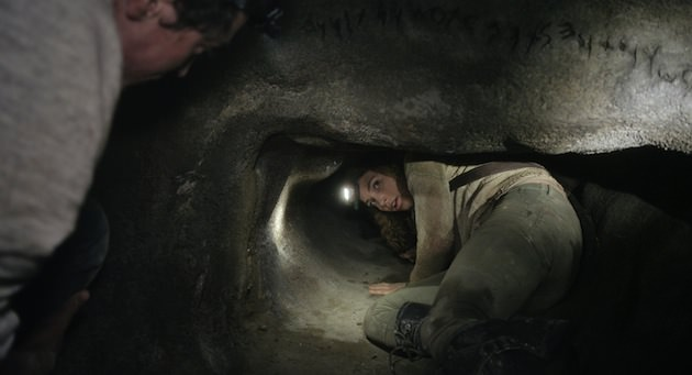 Perdita Weeks is crawling into more than just an ancient catacombs. Courtesy Universal Pictures.
