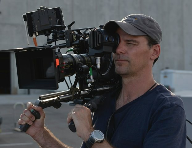 Brian Pearson on the set of 'Into the Storm.'