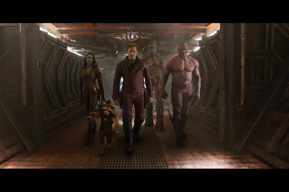 The Guardians are dressed for battle in the latest Ravager garb. Courtesy Walt Disney Studios.