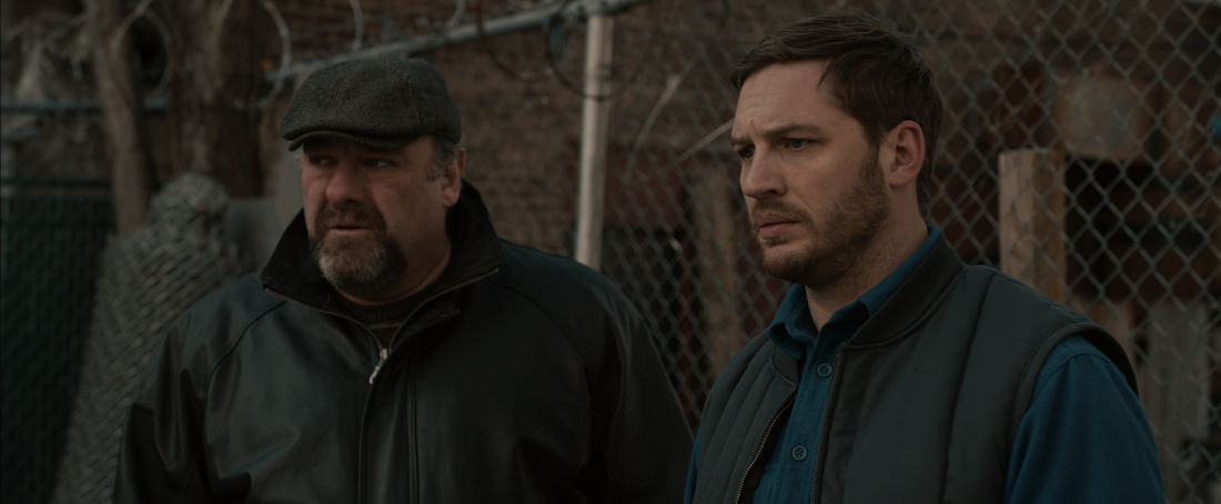 James Gandolfini is Cousin Marv and Tom Hardy is Bob in 'The Drop.' Courtesy Fox Searchlight Pictures.