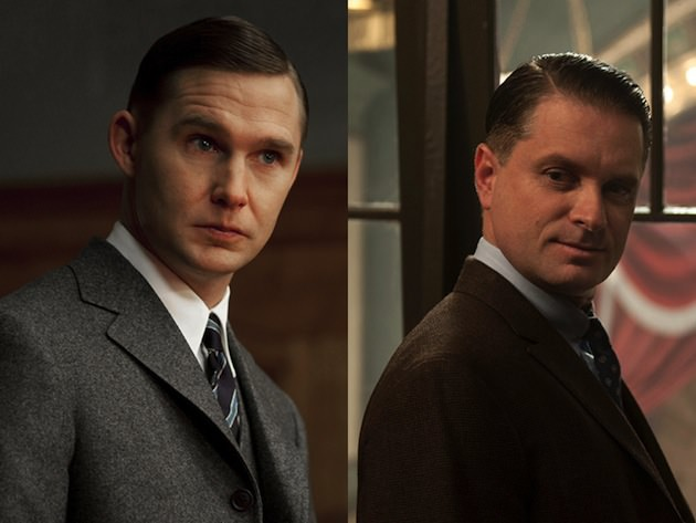 L-R: Agent Warren Knox (Brian Geraghty) vs. Eli Thompson (Shea Wingham). Courtesy HBO