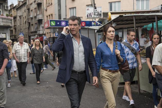 Pierce Brosnan and Olga Kurylenko