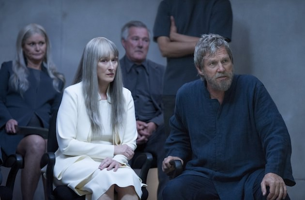 Meryl Streep is the dispassionate voice of 'reason' to Jeff Bridges passionate Giver. Courtesy The Weinstein Co.