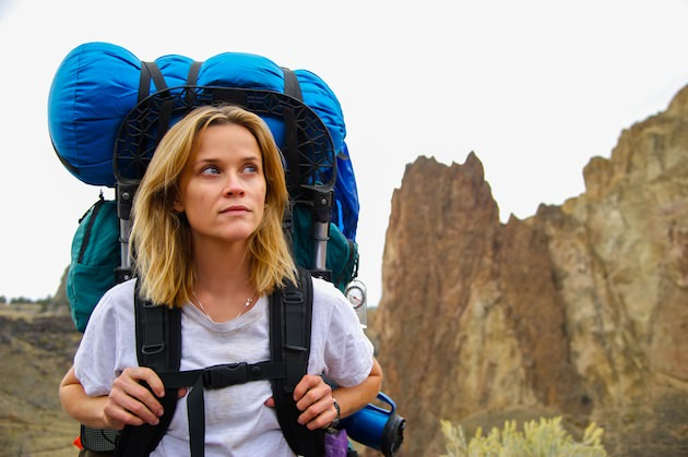 Reese Witherspoon in front of Smith Rock, in Oregon. Courtesy Fox Searchlight Pictures.