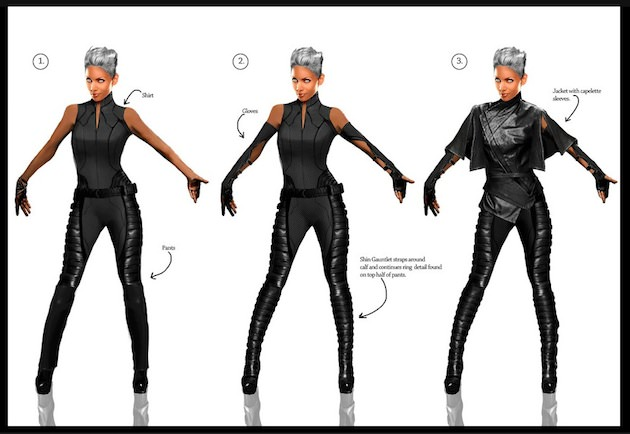 Digital illustration for Halle Berry's character Storm by Phillip Boute Jr. Design by Louise Mingenbach.