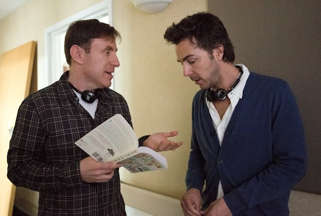 Jonathan Tropper, left, talks with director Shawn Levy. Courtesy Warner Bros. Pictures.