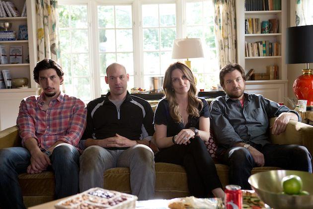 Dream cast, l-r: Adam Driver, Cory Stoll, Tina Fety & Jaston Bateman. Courtesy Warner Bros. Pictures
