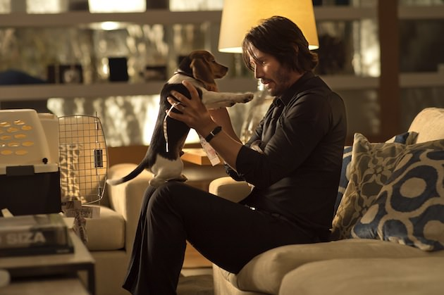 John Wick (Keanu Reeves) and his puppy Daisy. Courtesy Lionsgate