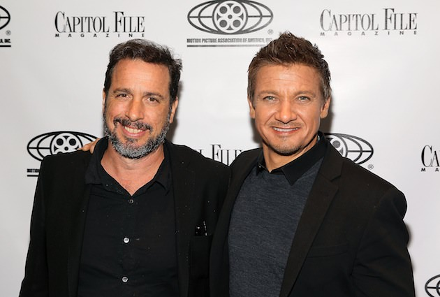 Director Michael Cuesta (L) and actor Jeremy Renner attend Capitol File's 'Kill the Messenger' Screening at MPAA on September 23, 2014 in Washington, DC.  (Photo by Paul Morigi/Getty Images for Capitol File Magazine)