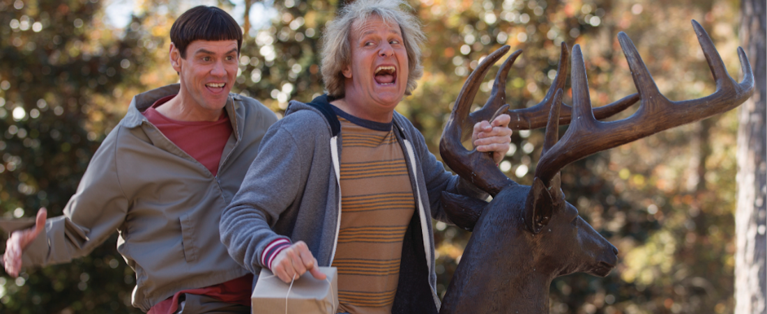Lloyd (Jim Carrey) and Harry (Jeff Daniels) are back. Courtesy Universal Pictures.