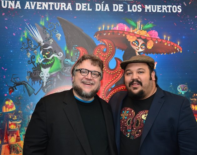 L-r: Producer Guillermo del Toro and writer/director Jorge R. Gutierrez at the Mexico premiere of 'The Book of Life.' Courtesy 20th Century Fox