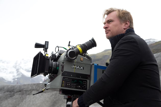 Nolan on the set of 'Interstellar.' Courtesy Paramount Pictures.