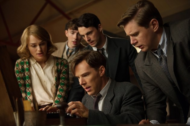 (L-R) Keira Knightley, Matthew Beard, Matthew Goode, Benedict Cumberbatch, and Allen Leech star in THE IMITATION GAME.