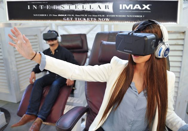 Having the 'Interstellar' Rift experience. Courtesy Paramount.