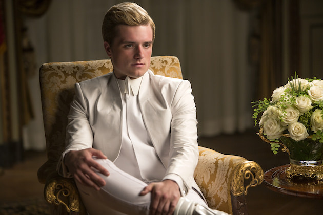 Peeta's in a precarious position. Courtesy Lionsgate.