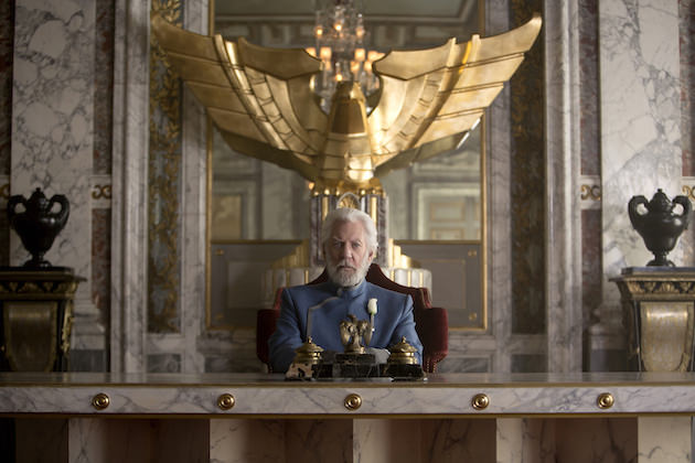 President Snow will do whatever it takes to retain power. Courtesy Lionsgate.