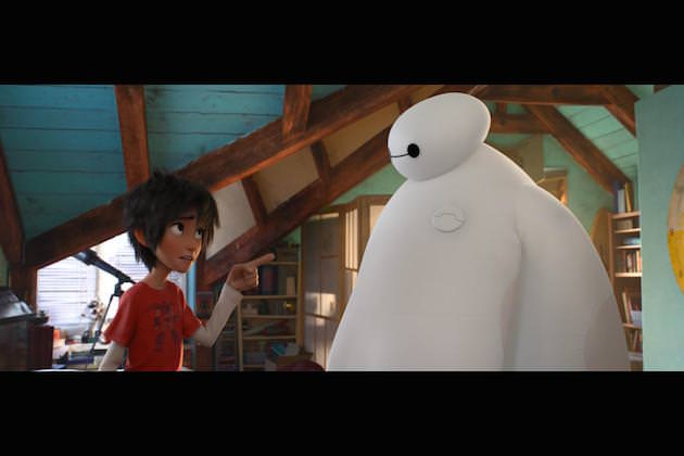 Hiro and Baymax. Courtesy Walt Disney Studios Animation