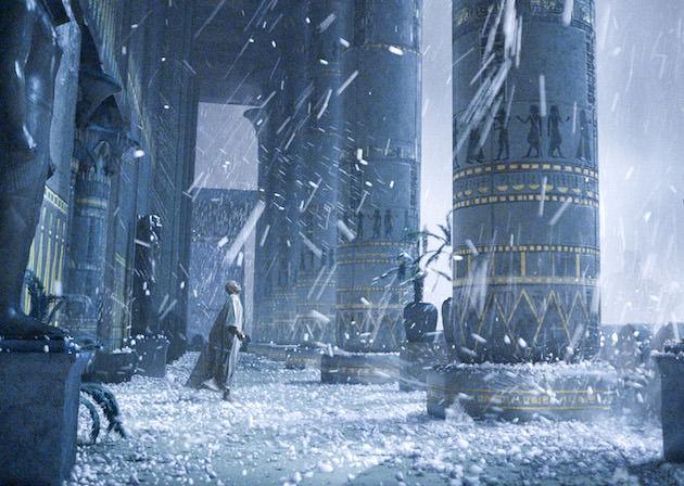 A shocking hailstorm plagues Ramses (Joel Edgerton). Courtesy 20th Century Fox.
