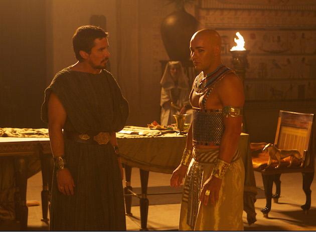 Christian Bale (left) stars as Moses and Joel Edgerton stars as Ramses.