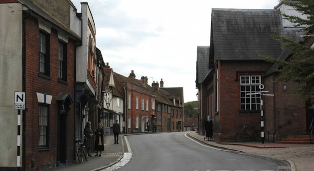 An exterior of Bletchley Village from the film. Courtesy The Weinstein Co.