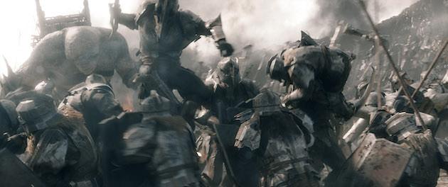 The battle begins. Courtesy Warner Bros. Pictures