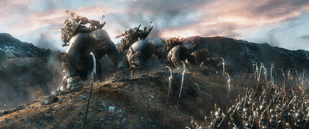 As trolls take their position and thousands of combatants prepare for battle, director Peter Jackson had unprecedented flexibility to film these sequences with Weta Digital's technology. Courtesy Warner Bros. Pictures.
