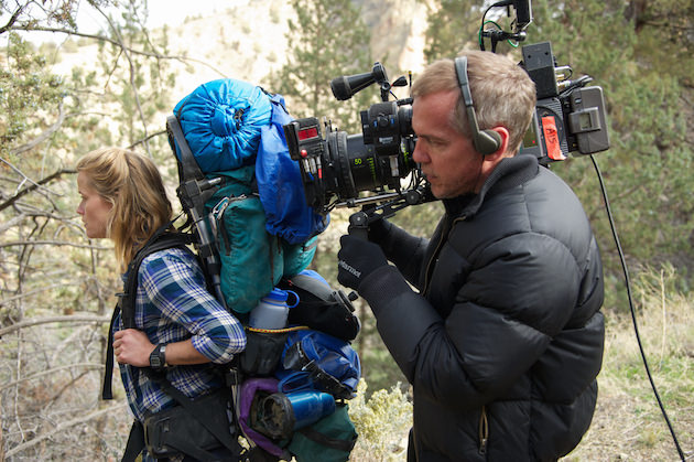 Reese Witherspoon and director Jean-Marc Vallee filming on location for 'Wild.' Courtesy Fox Searchlight