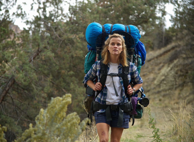 A woman and her backpack...which is the same size she is. Courtesy Fox Searchlight