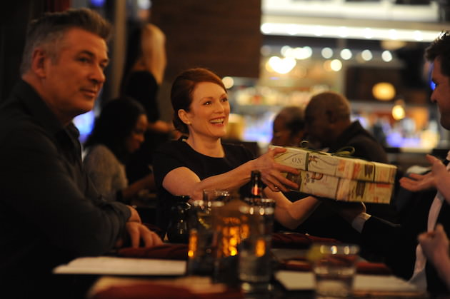 Left to right: Alec Baldwin as John and Julianne Moore as Alice Photo by Jojo Whilden, Courtesy of Sony Pictures Classics