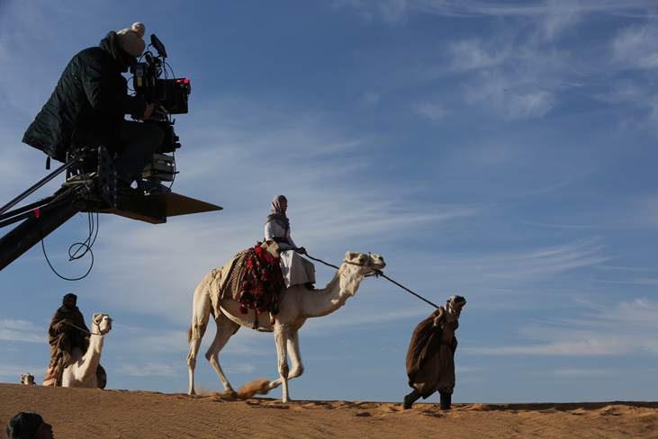Filming in the desert in Jordan. Courtesy Berlinale 2015