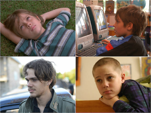 L-r, clockwise: Mason (Ellar Coltrane), at age 6, 7, 9 and 18. Courtesy of Matt Lankes. An IFC Films Release.