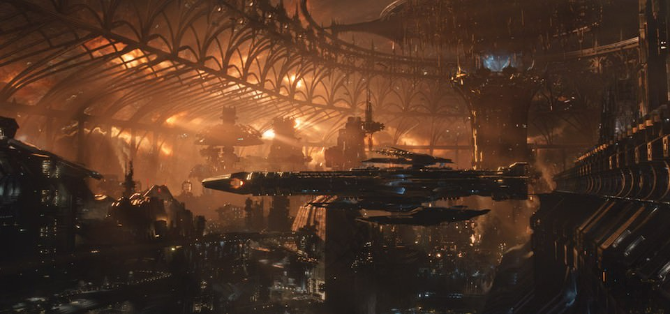 No matter what the setting, VFX supervisor Dan Glass looked to help root off world environments with a real world feeling. Courtesy Warner Bros. Pictures.
