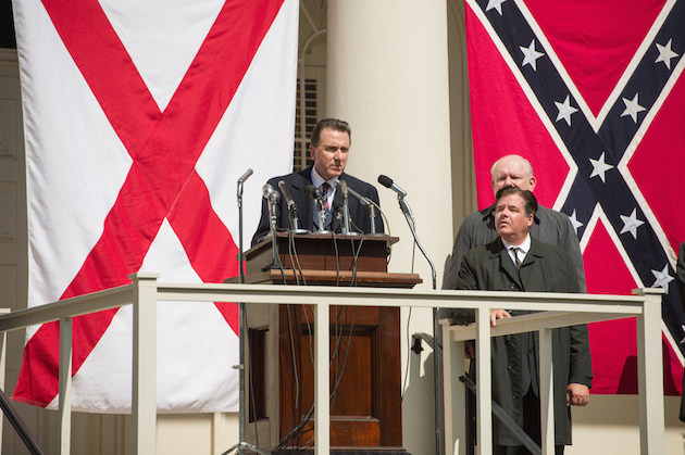 Tim Roth (center) plays Gov. George Wallace in SELMA, from Paramount Pictures, Pathé, and Harpo Films. SEL-11615