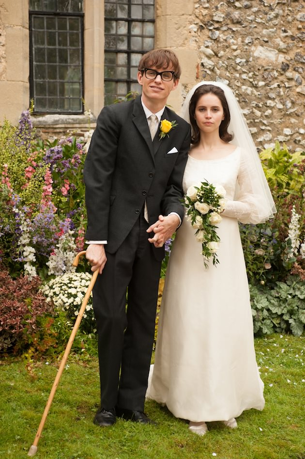 (L to R) Eddie Redmayne stars as Stephen Hawking and Felicity Jones stars as Jane Wilde in Academy Award winner James Marsh's THE THEORY OF EVERYTHING, a Focus Features release. Photo Credit:  Liam Daniel / Focus Features
