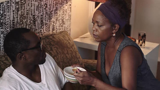 Langston (Gbenga Akinnagbe) can feed himself, but Sheila won't let him. Courtesy Ben Bowman.